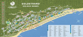 Map of Golden sands