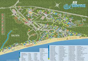 Карта на курортен комплекс Албена