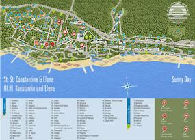 bulgarien sonnenstrand karte Bulgarien Sonnenstrand Karte Hotels | goudenelftal bulgarien sonnenstrand karte
